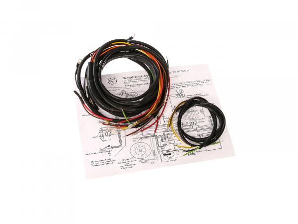 Cable harness system suitable for AWO tours