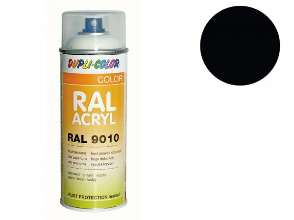 Dupli-Color Acrylic Spray RAL 9005 deep black, glossy - 400 ml