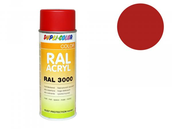 Dupli-Color Acryl-Spray RAL 3000 feuerrot, matt - 400 ml