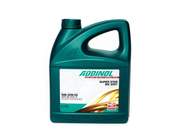 ADDINOL PKW SAE 20W-50 Super Star MX2057, high performance oil, mineral, 4 L canister.