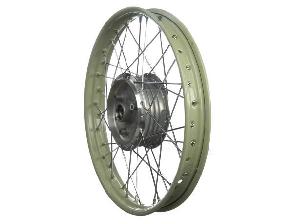Speichenrad - 1,5x16 Stahlfelge lackiert, Chromspeichen, Nabe, eingespeicht - Simson SR4-1 Spatz