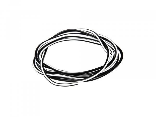 Cable - black/white 0,50mm² Automotive cable - 1m