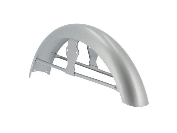 10070635 Kotflügel vorn, mit Strebe, Silber lackiert - für Simson S50 - Bild 1