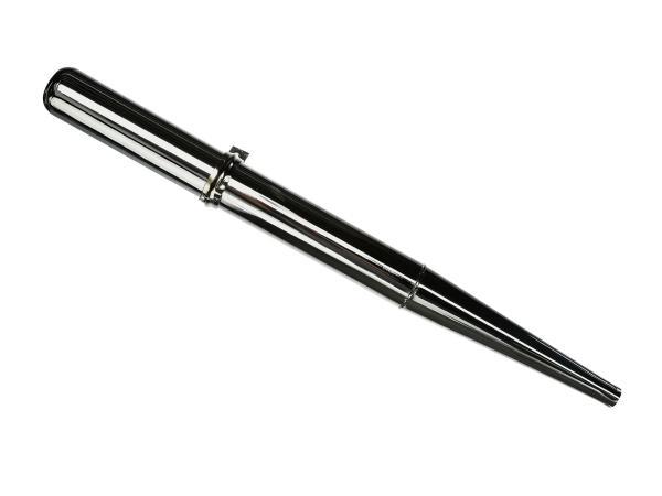 99001108 Auspuff - Standard chrom, ohne Krümmerschelle - Simson S50, S51, S70, KR51/2 Schwalbe, SR50, u.a. - Bild 1
