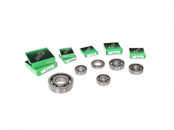 Set: Ball bearing motor + gearbox, 8 parts - MZ ETZ 250, 251, 301