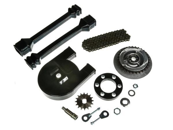 Großes Kettenradantrieb-Set (Ketten-Set) - für Simson SR50, SR80