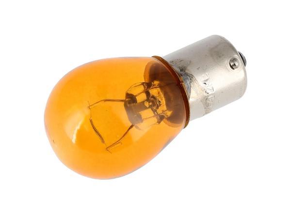 10070079 Kugellampe 12V 21W BA15s orange, von VEBCO - Bild 1