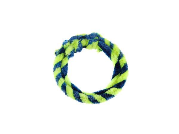 Nabenputzringe Blau/Neongelb (Set 1x 25cm + 1x 30cm für Fahrrad)