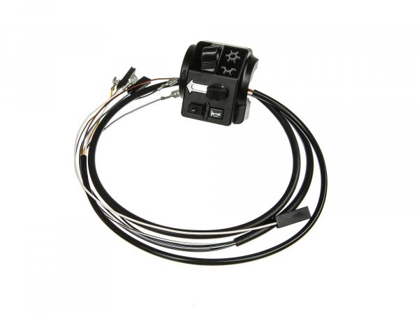 Switch combination 8626.19/20 with cable, without headlight flasher, 12V, flat link - Simson S53, S83