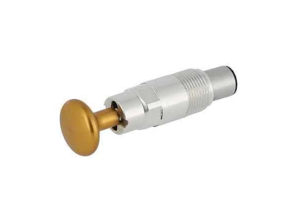 10070465 Starterkolben Tuning, mit Arretierung, Kopf Gold eloxiert - Bild 1
