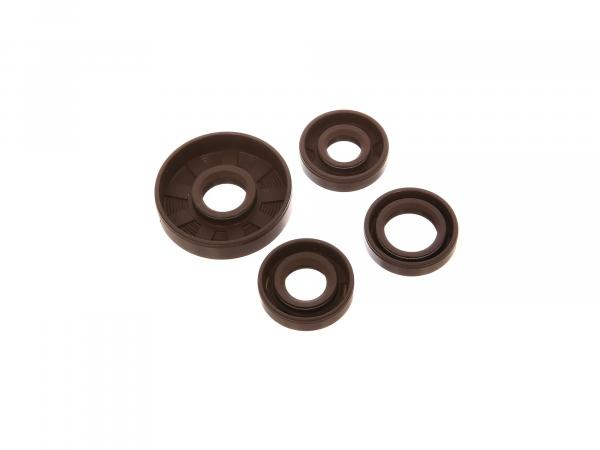 Set: Oil seals motor complete, brown - for Simson KR50