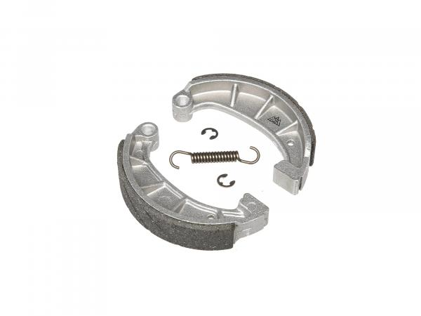 "Set: ""Sport"" brake shoes incl. spring and safety clips, cast-on steel pad"