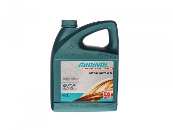 ADDINOL PKW SAE 5W-40 SUPER LIGHT MV 0540 - Smooth-running engine oil, fully synthetic, 5 L canister