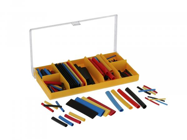 Shrink tubing set coloured, 127 pieces