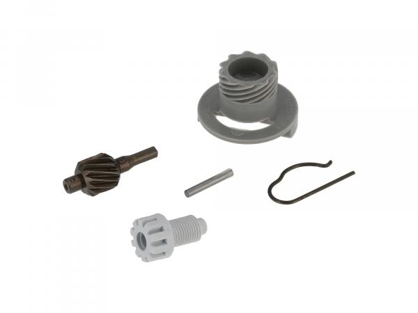 Set: Speedometer drive - complete, 5 pieces (15Z for chain pinion 14Z) - Simson S51, S53, SR50