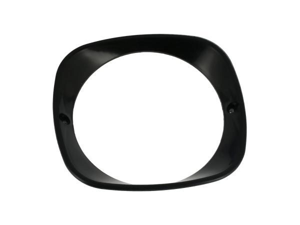 Headlight ring, black - Simson KR51 Schwalbe, SR4-2 Star, SR4-3 Sperber, SR4-4 Habicht - MZ ES125, ES150 - IWL TR150 Troll