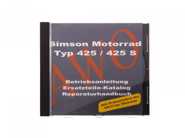 CD - SIMSON Simson AWO 425 Motorcycle 425/425S Original Documents