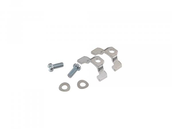Set: Mounting claws and screws for base plate - Simson S50, S51, KR51 Schwalbe, etc.