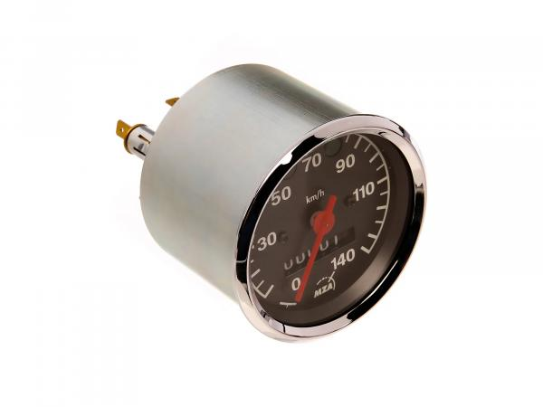 Speedometer up to 140 km/h, Ø80mm, indicator lights BLUE + GREEN - MZ ETZ