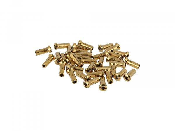 10070575 Set: Speichennippel M3,5 in Gold - Simson S50, S51, S70, KR51 Schwalbe, SR4 Vogelserie - Bild 1