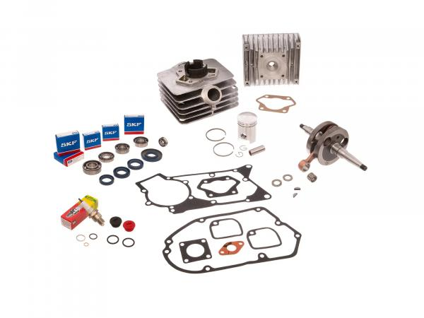 Set: cylinder cpl. 50cm³ + gasket set + crankshaft - for Simson S51, SR50