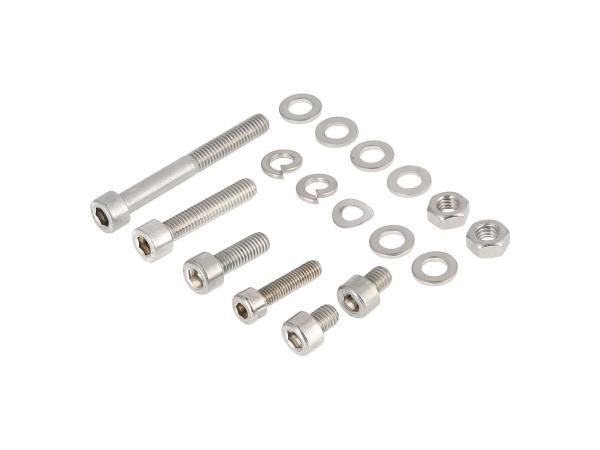 10001242 Set: Zylinderschrauben, Innensechskant in Edelstahl für Auspuffanlage SR50, SR80 - Bild 1