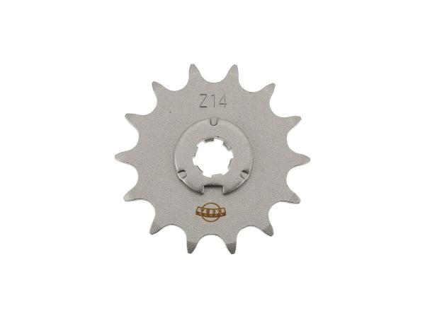10059746 Ritzel, kleines Kettenrad, 14 Zahn - Simson S50, KR51/1 Schwalbe, SR4-2 Star, SR4-3 Sperber, SR4-4 Habicht - Bild 1