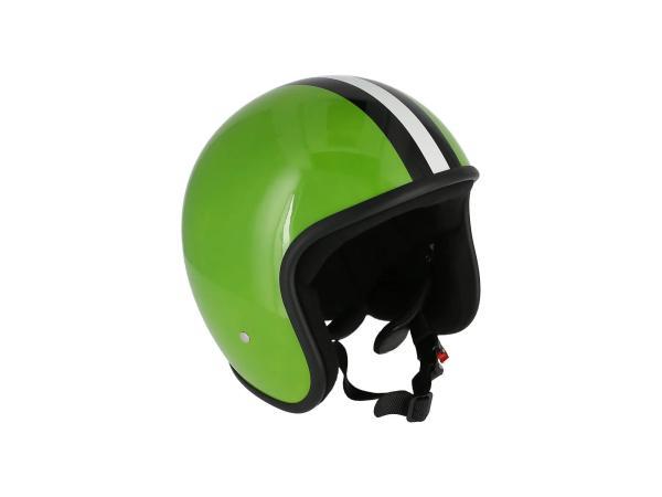 "K10000121 ARC Helm ""Modell A-611"" Retrolook - Hellgrün mit Streifen - Bild 1"