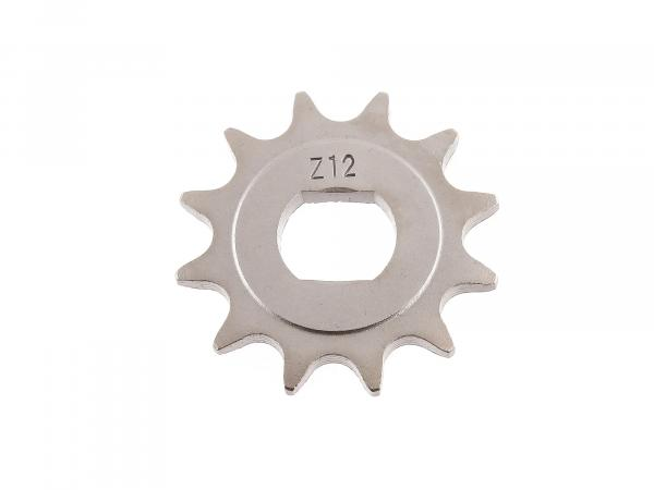 sprocket, small chain wheel, 12 teeth - for Simson S51, S70, S53, S83, KR51/2 Schwalbe, SR50, SR80