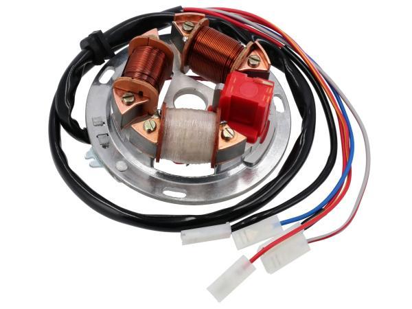 10001867 Grundplatte 8305.2/4-100, 12V Elektronik (35/21W Bilux) - für Simson S51, S70 - Bild 1