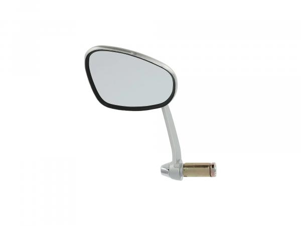 Kidney-shaped mirror, left, handlebar attachment