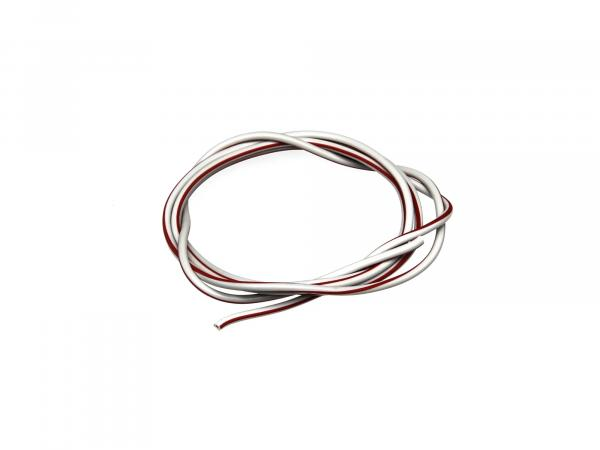 Cable - grey/red 0,50mm² Automotive cable - 1m