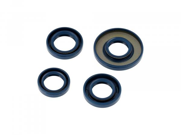 Set: Oil seals motor complete, blue, double lip - Simson S51, S70, S53, S83, KR51/2 Schwalbe, SR50, SR80