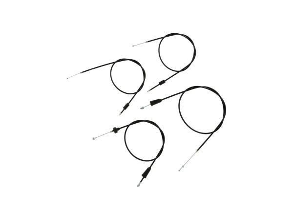 10069830 Set: 4 Bowdenzüge schwarz, Hochlenker - MZ TS 250, 250/1 - Bild 1