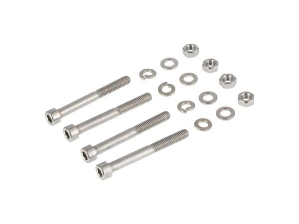 Set: Zylinderschrauben, Innensechskant in Edelstahl für Kotflügel/Schutzblech vorn Simson S50, S51, S53, S70, S83