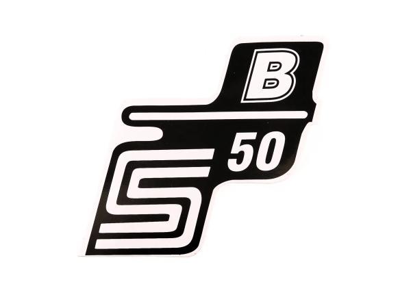 """Klebeschriftzug - """"S50 B"""" Weiß"""