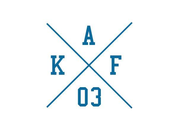 """10069149 Aufkleber - """"Kreuz AKF 03"""" Folienplot Blau, mit Übertragungsfolie - Bild 1"""