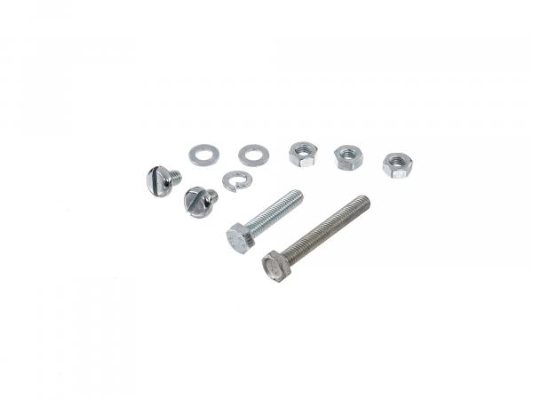 Set: hexagon screws, flat head screws for exhaust system, exhaust pipe, manifold S50, S51, S51E, S70, S70E