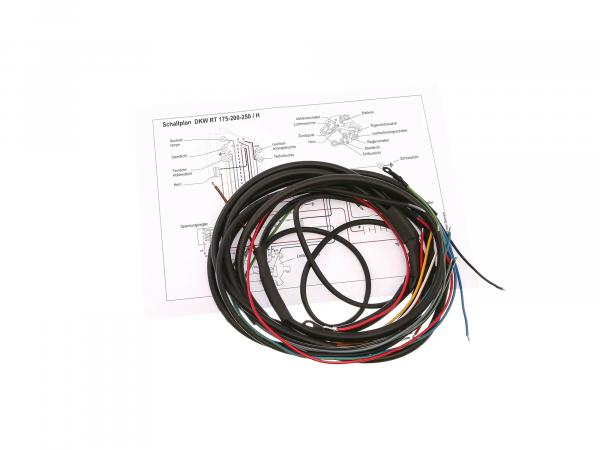 Cable harness suitable for RT175, RT200 (DKW) (with wiring diagram)
