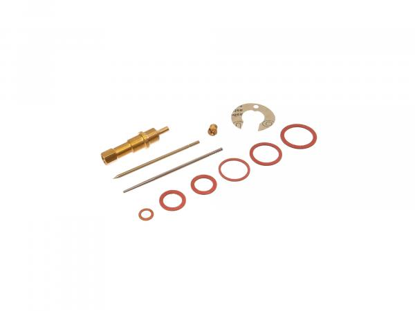 Repair kit for carburettor (11 pieces, 24 KN1-1, round slide) - for IWL SR59 Berlin