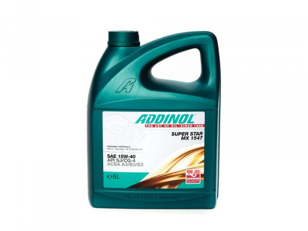 ADDINOL PKW SAE 15W-40 Super Star MX1547, Hochleistungsöl, mineralisch, 5 L Kanister