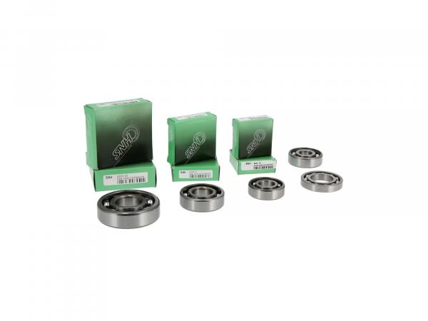 Set: Ball bearing motor + gearbox, 8 parts - MZ TS250, ES175/2, ES250/2, ETS250