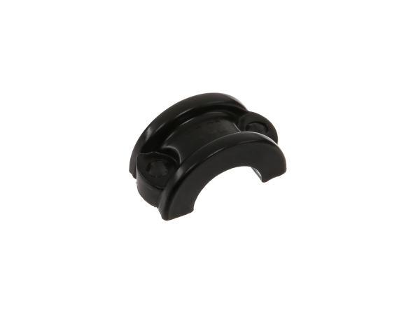 Halteschale f. Gelenkstück - Handhebelarmaturen - Oberfläche schwarz lackiert - MZ ETZ125, ETZ150, ETZ250, ETZ251, ETZ301