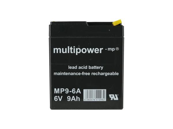 10069177 Batterie - 6V 9Ah Multipower (Gelbatterie) - Bild 1