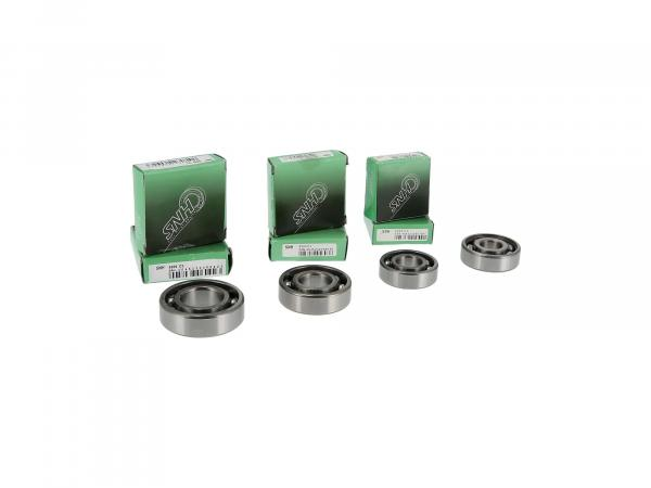 Set: Ball bearing motor + gearbox, 7 parts - MZ ES175, ES250