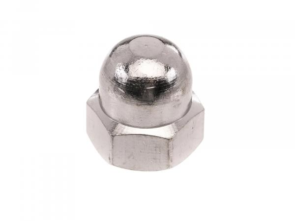 Hexagon cap nut M8 brass chrome plated - DIN1587