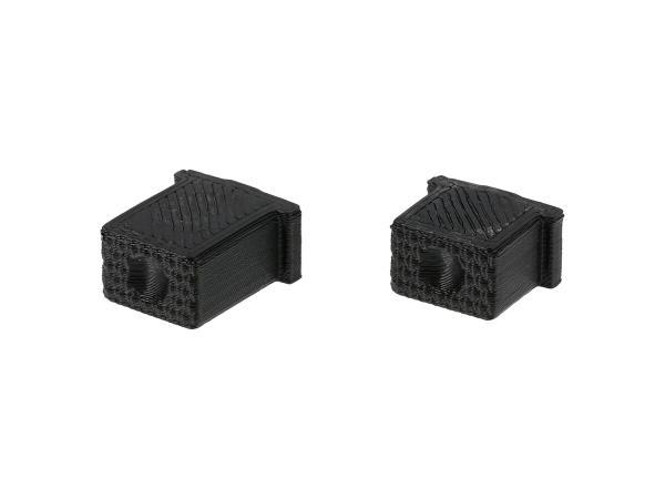 10069584 Set: Knopf für Hupe & Lichthupe 3D, Schwarz, Doppeltaster - für S51, S70, SR50, SR80 - MZ ETZ - Bild 1