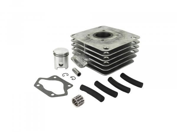 Set: 4-channel cylinder + piston + needle bearing, 50ccm - for Simson S51, KR51/2 Schwalbe, SR50