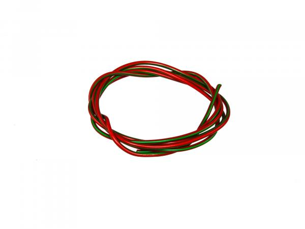 Cable - red/green 0,50mm² Automotive cable - 1m