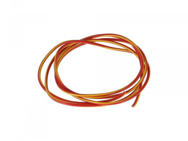 Cable - red/yellow 0,50mm² Automotive cable - 1m